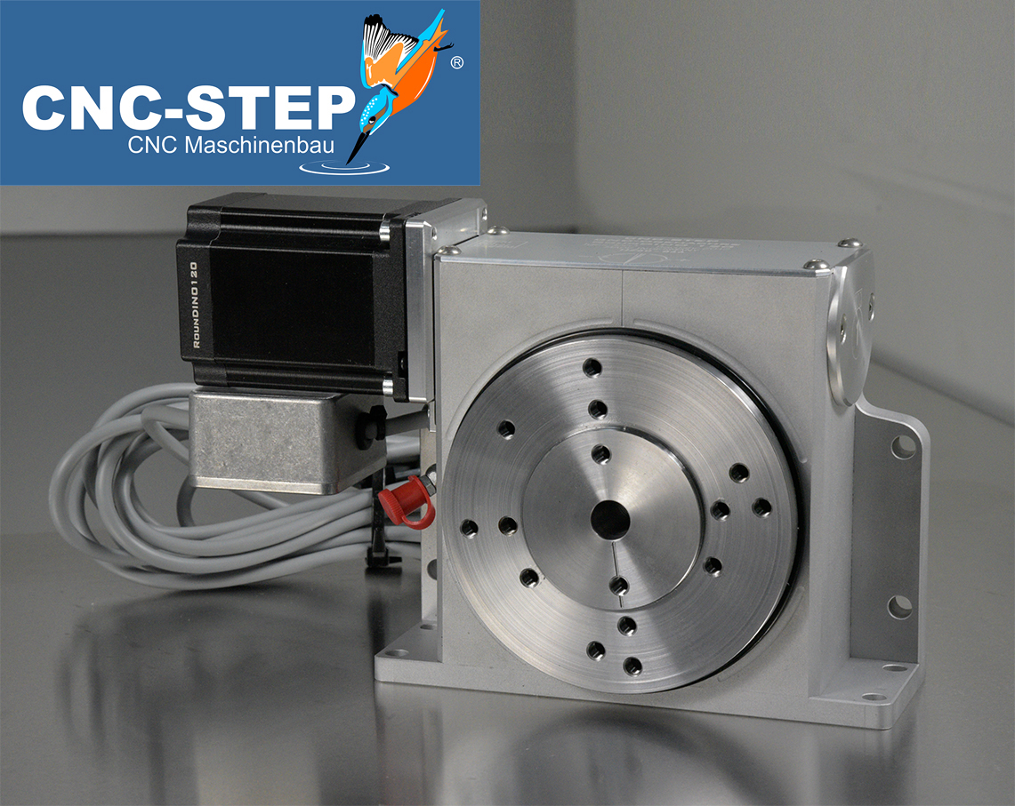 CNC Drehachse RounDINO 120 - 4te Achse - Drehtisch zum 3D Fräsen ...